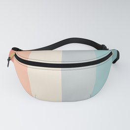 striped color pattern - red , orange, grey, green, Fanny Pack