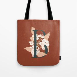 Letter B for Bergenia Tote Bag