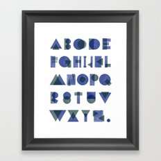 Letterpress Alphabet Framed Art Print
