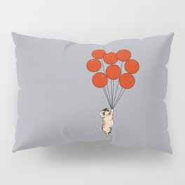 I Believe I Can Fly Pug Pillow Sham
