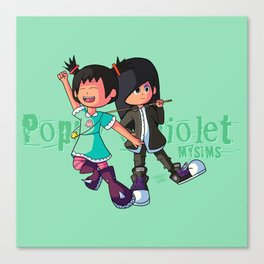 Poppy and Violet Canvas Print