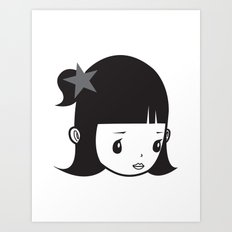 LUCY PIERROT Art Print