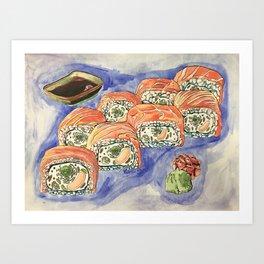 Eukaryotic Sushi Roll Art Print