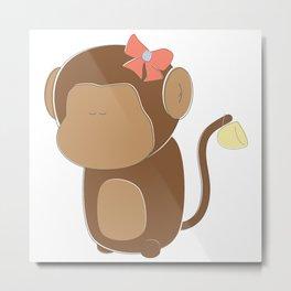 Lady Monkey Metal Print