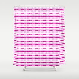Chatons rose Shower Curtain