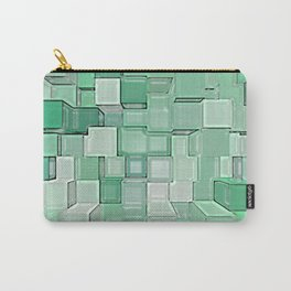 Green Cubes Carry-All Pouch