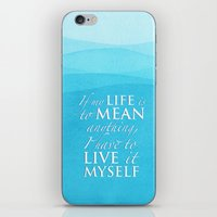percy jackson iPhone & iPod Skins featuring Live it myself - book quote from Percy Jackson and the Olympians by book quay