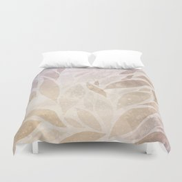 Brownie leaves Duvet Cover