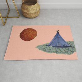 Under a Tomato Moon Rug