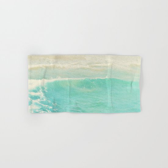 beach ocean wave. Surge. Hermosa Beach photograph Hand & Bath Towel