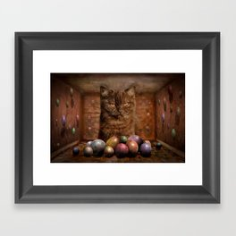 The Boss of the Balls Framed Art Print