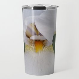 White Iris Travel Mug