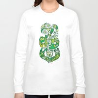 tiki Long Sleeve T-shirts featuring TIKI  by Jun Arita