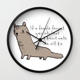 Ferret Wall Clock