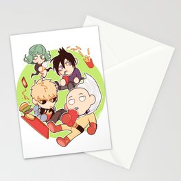 One Punch Man +Snacks Stationery Cards