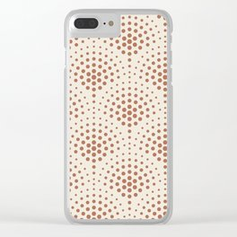 Cavern Clay SW 7701 Polka Dot Scallop Fan Pattern on Creamy Off White SW7012 Clear iPhone Case