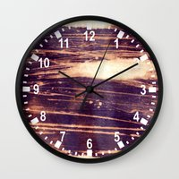 bleach Wall Clocks featuring bleach scruffily / wet by seb mcnulty