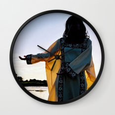 WAYUU YOUNG NATIVE LADY Wall Clock