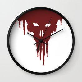 Dissolved Blood Skull Wall Clock