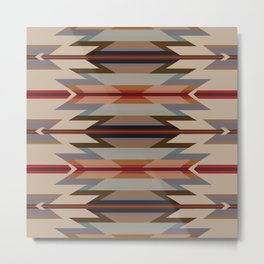 American Native Pattern No. 128 Metal Print