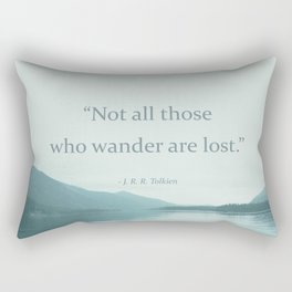 Blue Lake + Tolkien Quote Rectangular Pillow