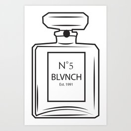 BLANCH NUMBER 5 Art Print