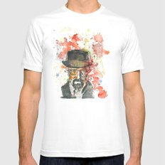 Walter White from Breaking Bad Mens Fitted Tee White MEDIUM