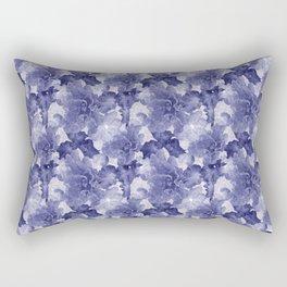 Flower Play in Blue Rectangular Pillow