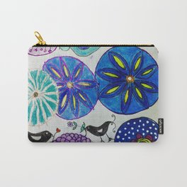 Flowers and Black Birds Carry-All Pouch