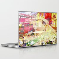 england Laptop & iPad Skins featuring Old England by Joe Ganech