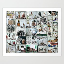 100 Days of Bunnies Poster Art Print