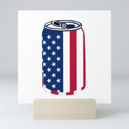 American Beer Can Flag Mini Art Print