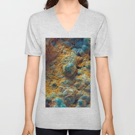 Bubbly Turquoise with Rusty Dust Unisex V-Neck
