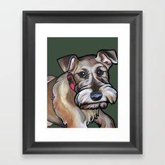 Maggie the irish terrier Framed Art Print