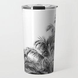 Big Island Palms - Minimal Boho Black and White Travel Mug