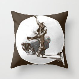 Media Rodeo: Big Brother is watching you Throw Pillow
