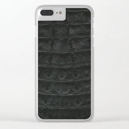Skin #2_Bone Black Clear iPhone Case