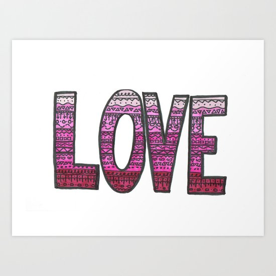 Love Design Art Print
