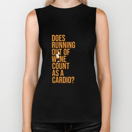 Wine Connoisseur Funny Running Out Of Wine As A Cardio Biker Tank
