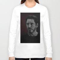 robert downey jr Long Sleeve T-shirts featuring Robert Downey Jr by Oput Studios