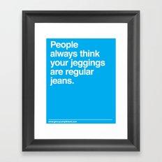 Jeggings Framed Art Print