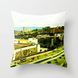 A warm city. Throw Pillow