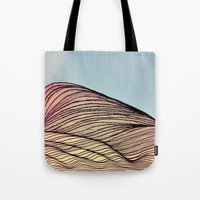 dune Tote Bags featuring Sand Dune by Brontosaurus