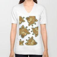 giraffes V-neck T-shirts featuring Giraffes by BerryT