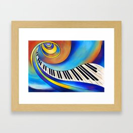 Redemessia - spiral piano Framed Art Print