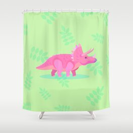 Triceratops, She Always Had an Attitude Shower Curtain
