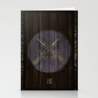 skyrim Stationery Cards featuring Shield's of Skyrim - Riften  by VineDesign