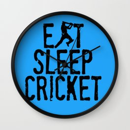 Eat Sleep Cricket Wall Clock