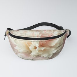 Single peony flower in a dark vase Fanny Pack
