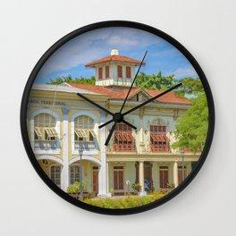 Historic Buildings, Parque Historico, Guayaquil, Ecuador Wall Clock
